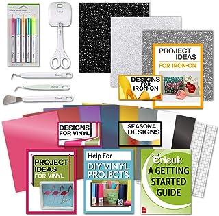 حزمة المبتدئين من كريكوت - مكواة لامعة على إتش تي تي في، أوراق فينيل، مجموعة أدوات، أقلام، كتاب إلكتروني