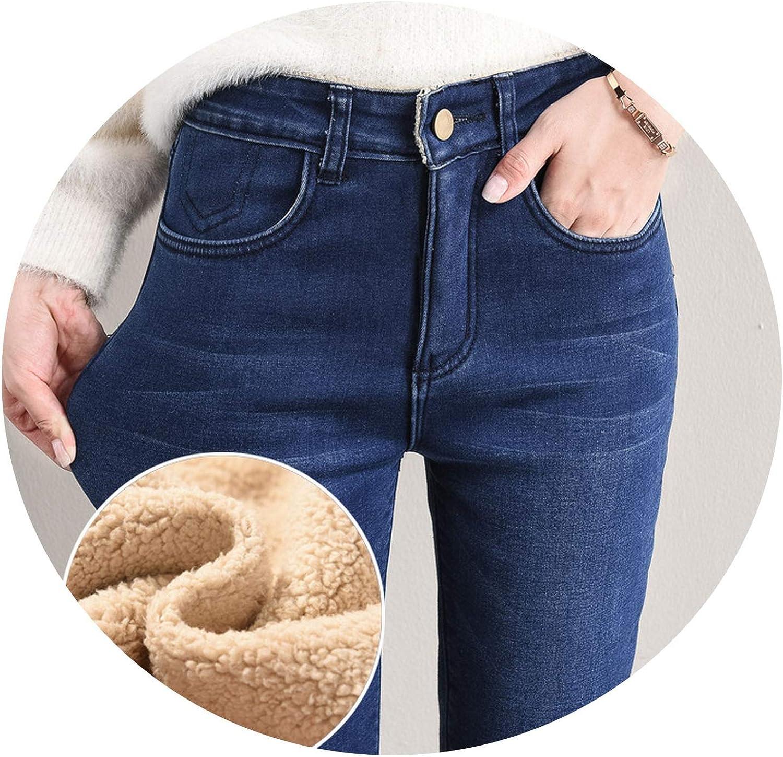 blueeshore Winter Jeans Female High Waist Denim Skinny Warm Thick Jeans for Women Velvet Pants Stretch