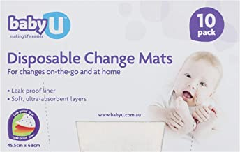 Baby U Disposable Change Mats, 10 count (5095-SRT)