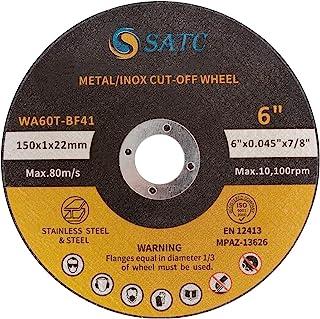 "S SATC 25 PCS Cut Off Wheels 6 Inch Cutting Wheel 6""x.040""x7/8"" Cutting.."