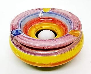 Posacenere Antivento Realizzato e dipinto a mano Le Ceramiche del Castello Idea Bomboniera dimensioni 10 L x 5 H centimetri