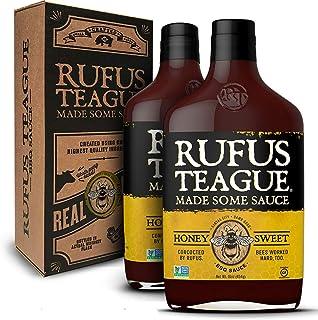 Rufus Teague - Honey Sweet BBQ Sauce - Premium Barbecue Sauce - 16 oz. Bottles - 2 Pack