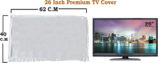 "LED TV Cover 26"" Master Piece LED/LCD T.v Cover Gray White.by WOOLF"