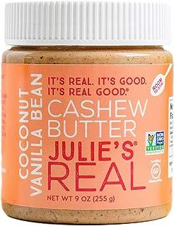 Julie's Real Cashew Butter, Coconut Vanilla Bean - Certified Gluten-Free, Verified Non-GMO, Paleo, Kosher - No Sugar Added...