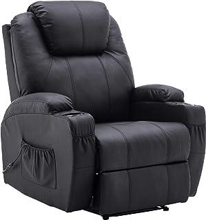 MCombo Elektrisch Relaxsessel Massagesessel Fernsehsessel Liegefunktion Vibration Heizung..