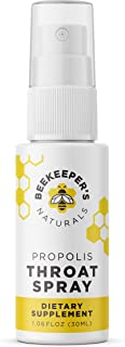 Bee Propolis Throat Spray by Beekeeper's Naturals | Premium 95% Bee Propolis Extract | Natural Throat Relief and Immune Support | Great for Cold & Flu Symptoms