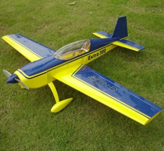 RC Plane Extra 300 10E 37.2INCH Electric RC Wooden Model Airplane Yellow&Blue