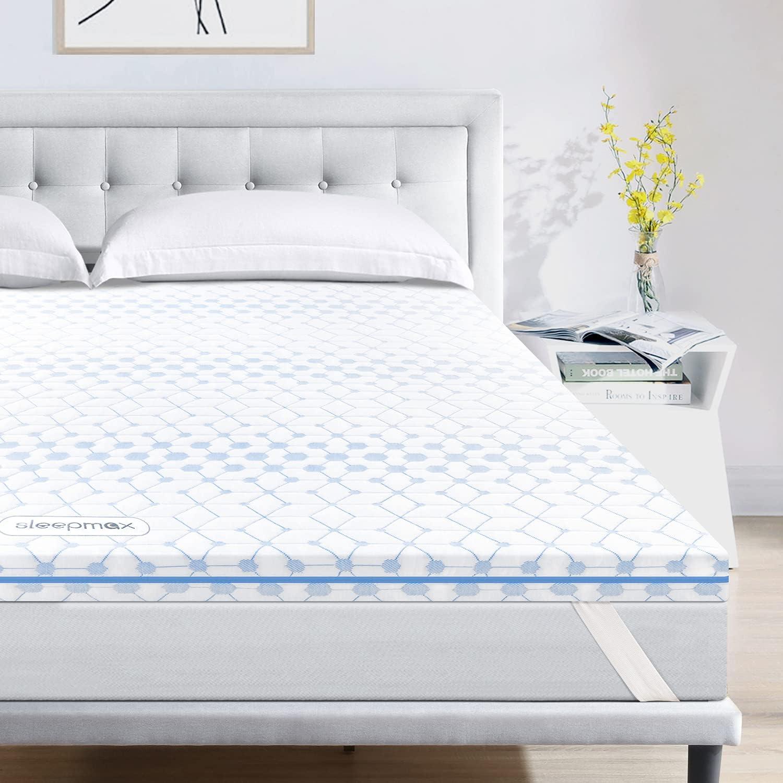 人気急上昇 デポー Sleepmax 3 Inch Full Size Memory Gel Mattress Foam Topper Infuse