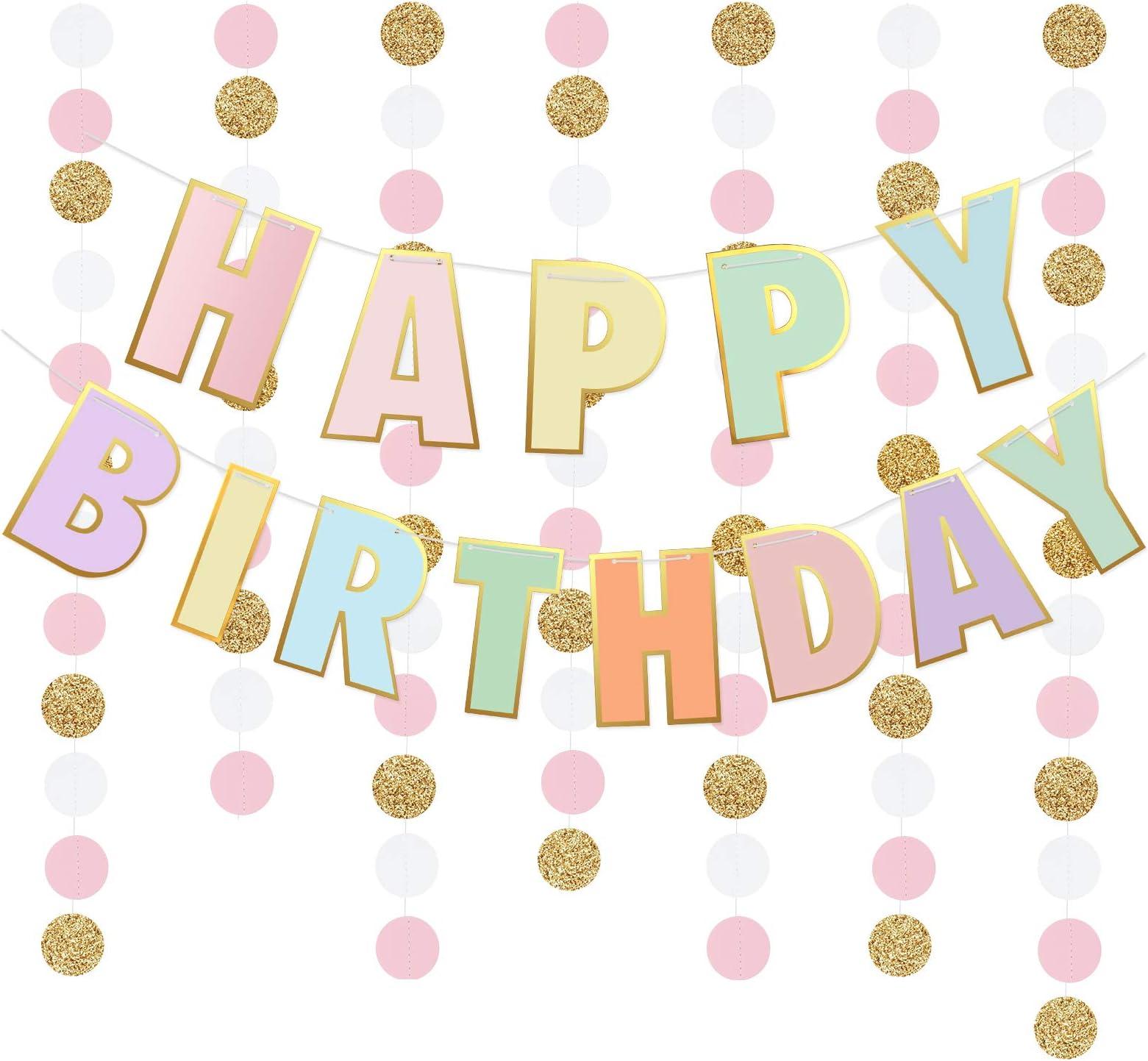 1st Birthday Photo-Childs Birthday Sign-Polka Dot Birthday Happy Birthday Sign-Happy Birthday Banner-Birthday Garland-Birthday Decorations