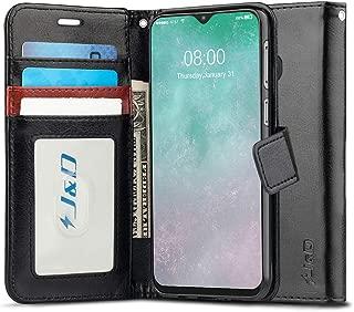 جراب J&D متوافق مع جراب Galaxy M20، [حامل محفظة] [مقاس نحيف] جراب محفظة قلاب واقٍ مقاوم للصدمات شديد التحمل لهاتف Samsung Galaxy M20 - [ليس لهاتف Samsung Galaxy M30] اسود