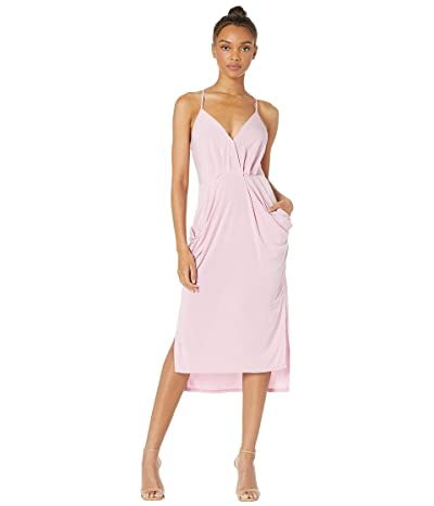 BCBGeneration Drapey Pocket Midi Dress YDM6169244 (Lilac) Women