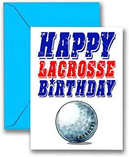 Play Strong 3-Pack Lacrosse Star Birthday Cards 3-Pack (5x7) Sports Birthday Greeting Cards - Awesome for Players, Coaches and Fans Birthdays, Gifts and Parties! #AllProfitsToHelpKids