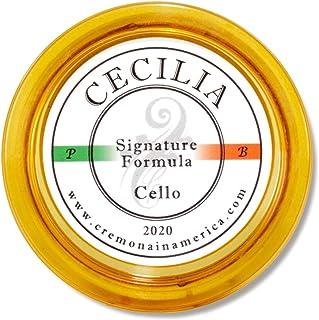 CECILIA 'Signature formula' Rosin for Cello, Rosin Specially Formulated Cello Rosin for Cello Bows (New 'Liquid Form Blending Method') (Full Cake)