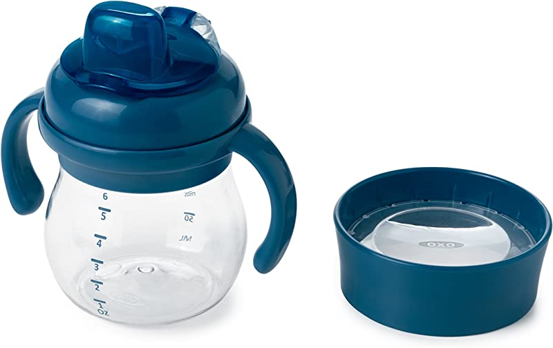 OXO Tot Transitions Soft Spout Training Cup Set Navy 6 Ounce