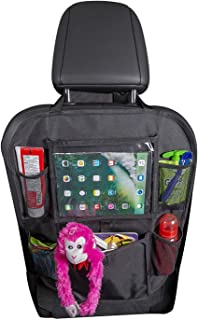 YOMYM Car Back Seat Organizer for Kids and Toddlers by Tidelands | 5 Pockets, Touch Screen Tablet Holder for Android & iOS...