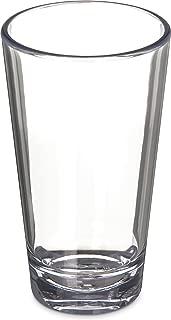 Carlisle 5616-407 Alibi Heavy-Weight Plastic Pint/Mixing Glass, 16 oz (Set of 4)