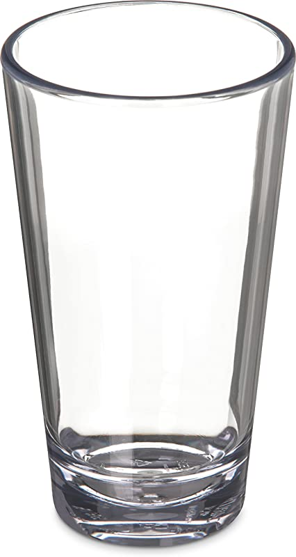 Carlisle 5616 407 Alibi Heavy Weight Plastic Pint Mixing Glass 16 Oz Set Of 4