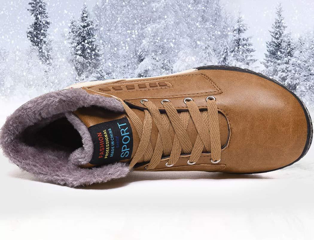 AZLLY Zapatos para Hombre Botines cálidos con Forro de