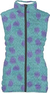Rainbow Rules Sully Fur Monsters Inc Disney Inspired Womens Puffer Vest Bodywarmer Gilet