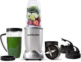 NutriBullet 1200w Series Blender, 10 Piece Set, Silver (N12-1007)