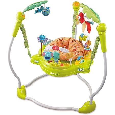 アクティビティジャンパー 6ヶ月頃から対象ベビーバウンサー レインフォレスト アクティビティ ジャンプ 調整可能 多機能 おもちゃ 赤ちゃん,グリーン