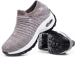 Women's Walking Shoes Sock Sneakers - Mesh Slip On Air Cushion Lady Girls Modern Jazz Dance Easy Shoes Platform Loafers