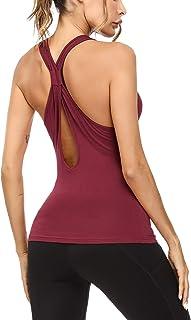 Sykooria Camiseta Deportiva Sin Mangas para Mujer Camiseta d