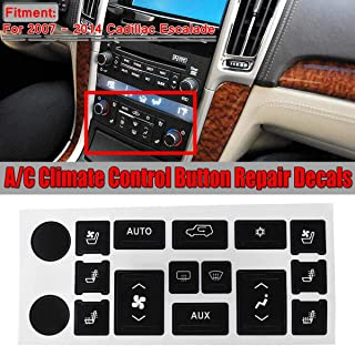 1Set Car Air Condition A/C Climate Control Switch Button Repair Decals Stickers For Cadillac Escalade 2007 2008 2009 2010-2014
