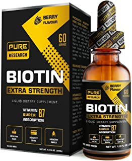 Biotin Hair Growth Liquid Drops, Supports Strong Nails, Glowing Skin, Healthy Hair Growth, 3X More Absorption Than Capsule...