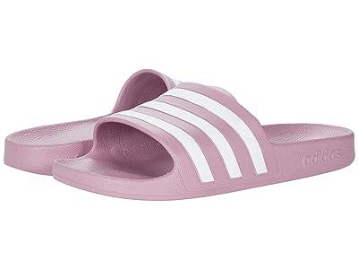 adidas Adilette Aqua Slides (Cherry Metallic/White/Cherry Metallic) Women