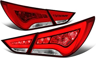 For Sonata 3D LED Bar Tail Light Stop Brake Lamps (Red/Clear)