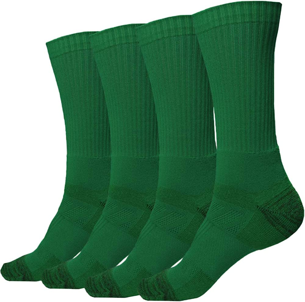 2 Pack of Men's Premium Athletic Sports Team Crew Socks for Football, Basketball and Lacrosse