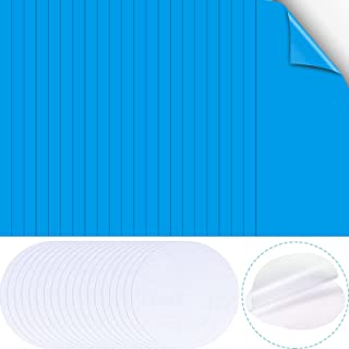 Skylety 50 Pieces Self-Adhesive Vinyl Repair Patch Kit for Inflatable Boat Raft Kayak Air Beds Including 30 Pieces Panel V...