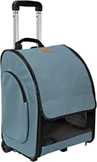 Akinerri Pet Backpack/Rolling Pet Travel Carrier, Soft-Sided Pet Travel Carrier with Removable Wheels for Small Medium Dogs/Cats