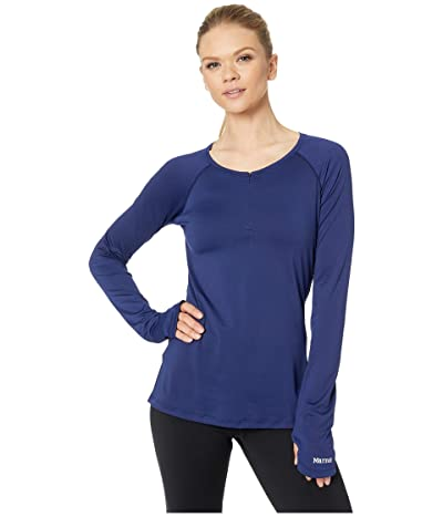 Marmot Nevis Long Sleeve Top (Arctic Navy) Women