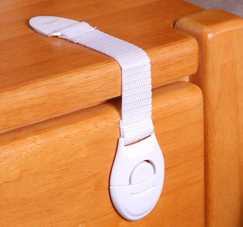 UDplus, Inc. (7pcs)Child Baby Adjustable Multi Purpose Safety Strap Latches Locks for Drawer Door Cabinet Fridge Oven Dishwasher Toilet Seat