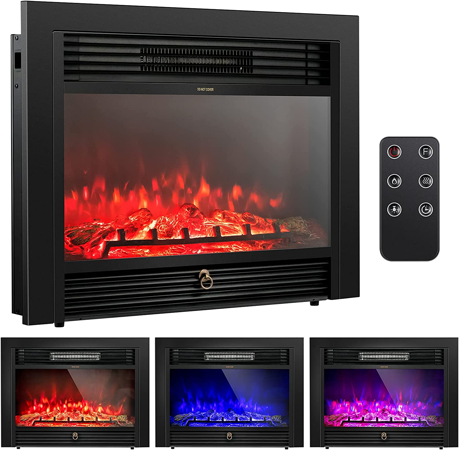 Tangkula 28.5 San Diego Mall Inches Cheap mail order sales Recessed Insert Freesta Fireplace Electric