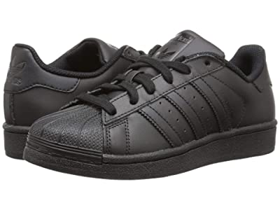 adidas Originals Kids Superstar Foundation (Big Kid) (Black/Black/Black) Kids Shoes