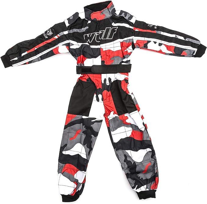 Bambini tuta motocross motivo mimetico WULFSPORT Junior 1 pezzo Suit Tuta moto intera da ragazzo per quad e off-road