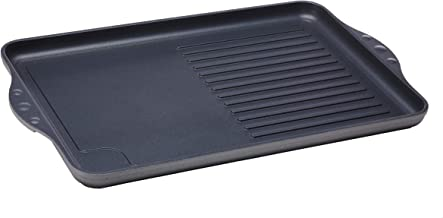 Swiss Diamond HD Classic Nonstick Double-Burner Grill/Griddle Combo