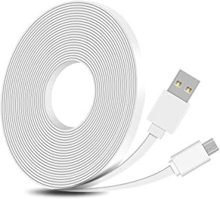 FastSnail 16.4FT Flat Power Extension Cable Compatible with WyzeCam, WyzeCam Pan, KasaCam Indoor, NestCam Indoor, Yi Camer...