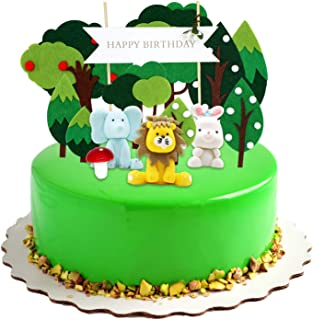 comprar comparacion KiraKira Decoraciones para Pasteles, Decoracion Tartas , Tema de Animales y Bosque, Decoracion cumpleaños, cumpleaños de P...