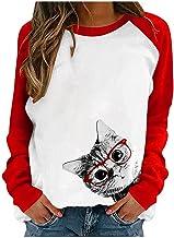 pour Sweat-shirt pour femme - Couleur contrastée - Épissures et épaules - Pull imprimé - Motif tête d'os - Veste pour femme