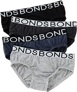 Bonds 4 Pack Boys Male Kids Plain Undies Underwear Brief Jock Size 2-14 UZW14A (14-16)