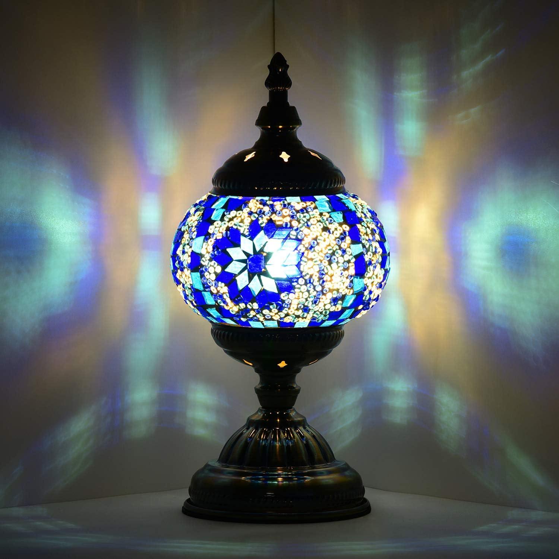 Arabic, Set of 2 Moroccan Brass Table silver Lamp Romantic Lighting Oriental Lighting