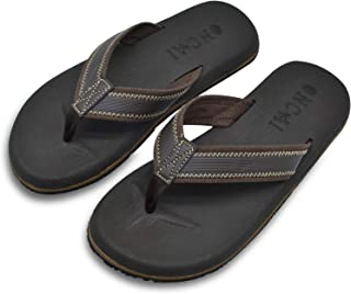 Mens Sandals Flip Flops Athletic Cushion Footbed Waterproof
