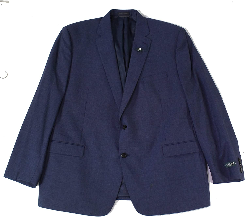 Lauren by Ralph Lauren Mens Blazer Long Classic Wool Blues