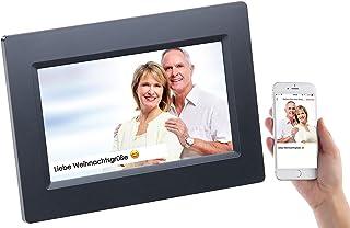 Somikon Digitale Bilderrahmen: WLAN Bilderrahmen mit 17,8 cm IPS Touchscreen & weltweitem Bild Upload (Digitaler Fotorahmen)