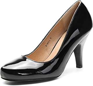 Ashley A MOLI Formal Evening Dance Classic Low Heel Pump Shoes for Women Black Size: 8.5