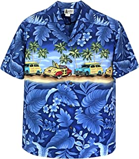 Panoramic Woody Cars Beach Hawaiian Shirt